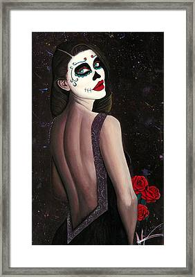 Roses And Sparkles Framed Print by Aaron  Montoya