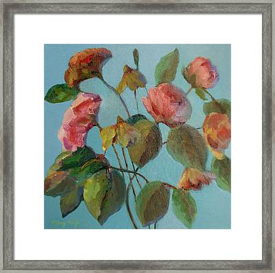 Roses And Wildflowers Framed Print