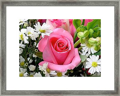 Roses Are Beautiful  Framed Print by Lanjee Chee