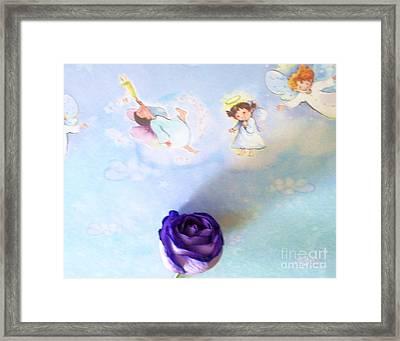 Roses Are In Heaven Framed Print