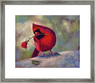 Framed Print featuring the painting Roses Are Red And So Am I  by Billie Colson