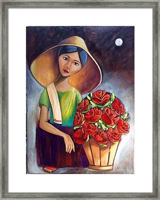 Roses Are Ref Framed Print