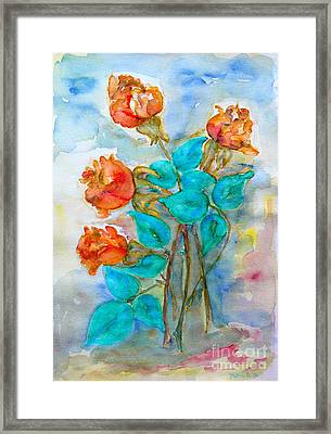 Roses Buds Framed Print
