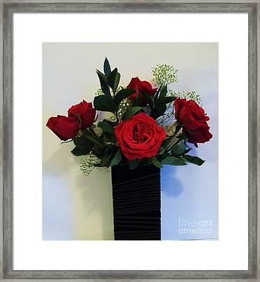 Roses Dressed In Black Framed Print by Marsha Heiken