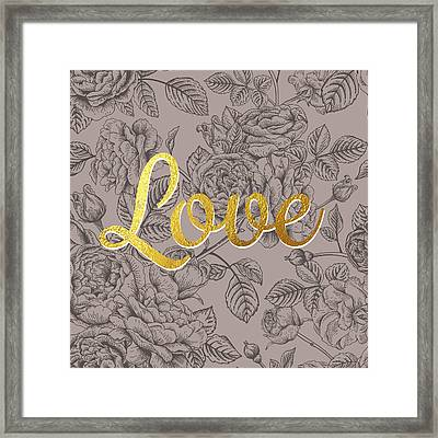 Roses For Love Framed Print by BONB Creative