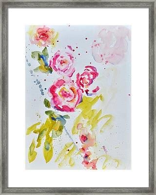 Roses For Madame Framed Print by Beverley Harper Tinsley