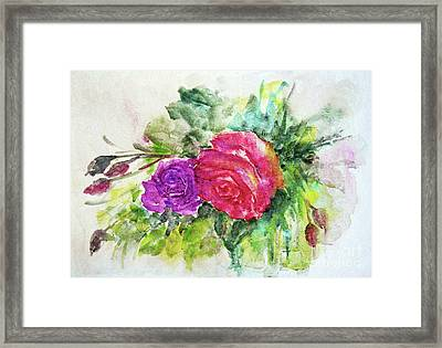 Roses For You Framed Print by Jasna Dragun