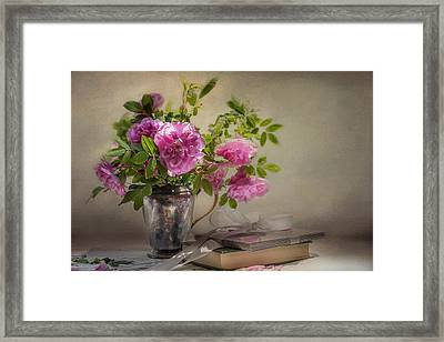 Roses For You  Framed Print by Maggie Terlecki