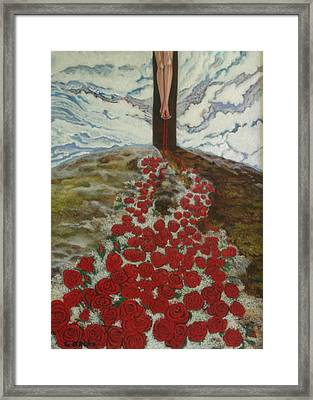 Roses Framed Print by Georgette Backs