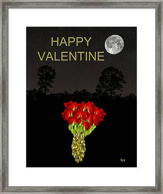 Roses Happy Valentine Framed Print