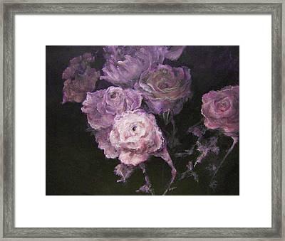 Roses In Mauve Framed Print