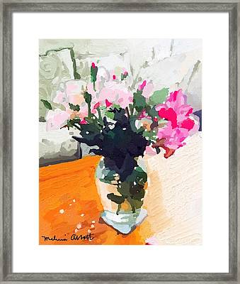 Roses In The Living Room Framed Print
