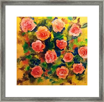 Roses In The Wild 2 Framed Print by Patricia Taylor