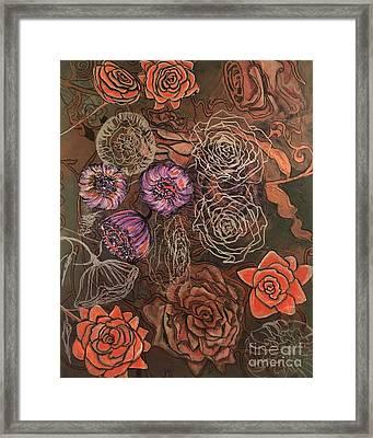 Roses In Time Framed Print