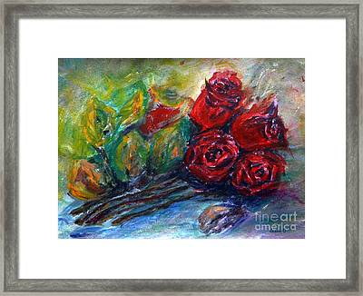 Roses Framed Print by Jasna Dragun