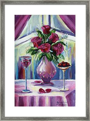 Roses Framed Print by Khatuna Buzzell