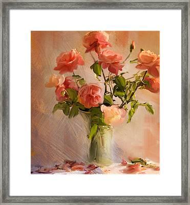 Roses La Belle Framed Print