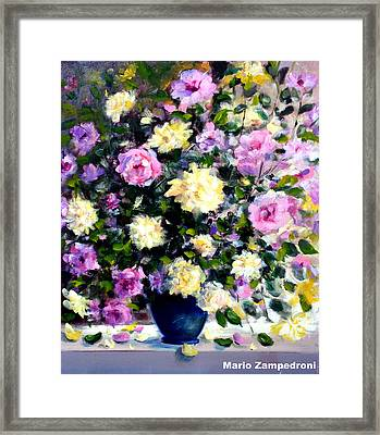 Roses Framed Print by Mario Zampedroni