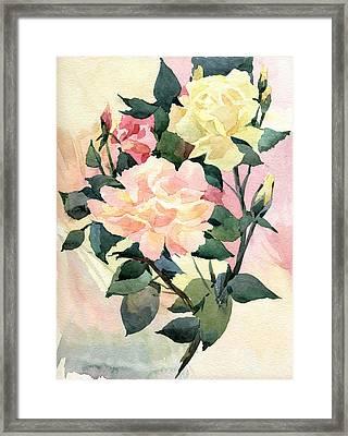 Roses Framed Print by Natalia Eremeyeva Duarte