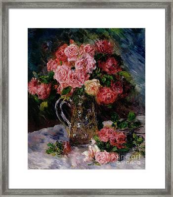 Roses Framed Print by Pierre Auguste Renoir