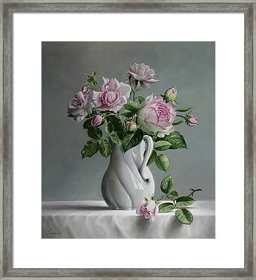 Roses Framed Print by Pieter Wagemans