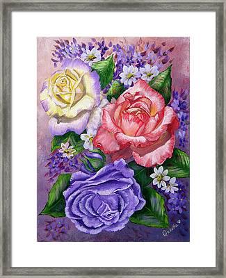 Roses Framed Print by Quwatha Valentine