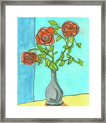 Roses R Red Framed Print
