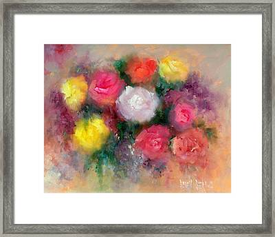 Roses Framed Print by Sally Seago