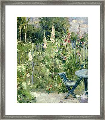 Roses Tremieres Framed Print by Berthe Morisot