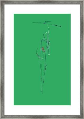 Roses Under Umbrella Framed Print by Viktor Savchenko