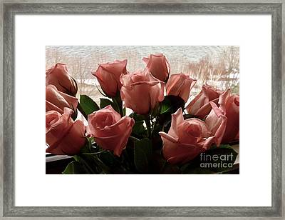 Roses With Love Framed Print