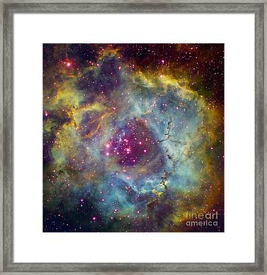 Rosette Nebula Ngc 2244 In Monoceros Framed Print by Filipe Alves