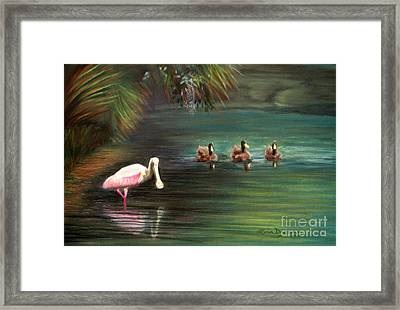 Rosey And Friends Framed Print