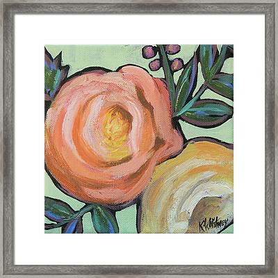 Rosey Duo Framed Print