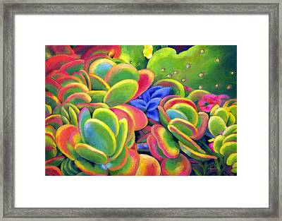 Rosey Lips Framed Print by Angela Treat Lyon