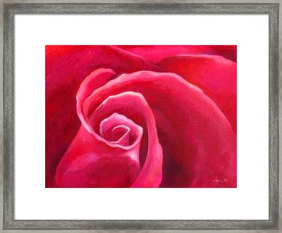 Rosey Lover Framed Print by Angela Treat Lyon