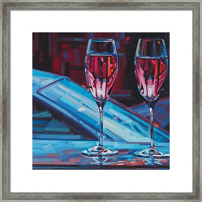 Rosey Twins Framed Print by Penelope Moore