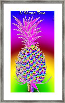 Rosh Hashanah Pineapple Framed Print