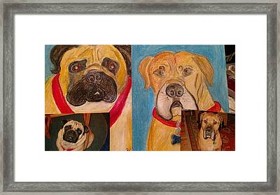 Rosie And Fergus Framed Print by Debby Reid