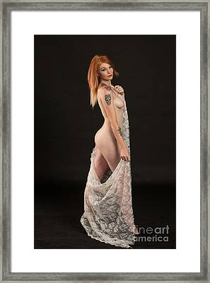 Rosie Nude Fine Art Print In Sensual Sexy Color 4667.02 Framed Print by Kendree Miller