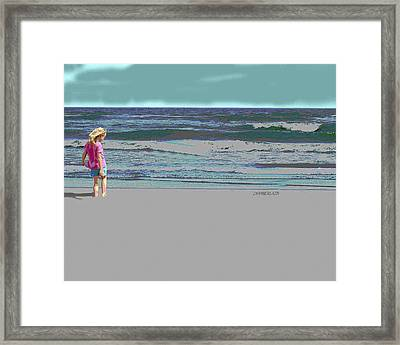 Rosie On The Beach Framed Print