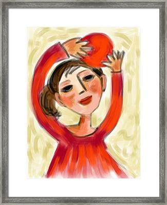 Rosie Red  Framed Print by Elaine Lanoue