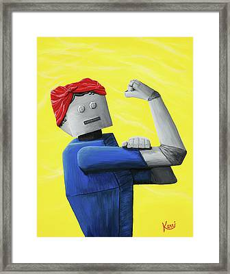 Rosie- Tempered And Timeless Framed Print
