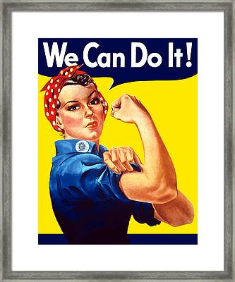 Rosie The Rivetor Framed Print by War Is Hell Store