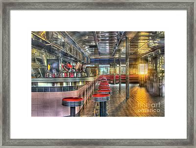 Rosies Diner Framed Print