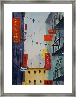 Ross Alley1 Framed Print