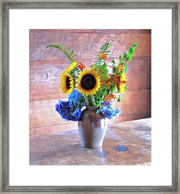 Ross Flowers Framed Print by Larry Darnell
