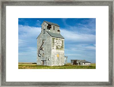 Ross Fork Grain Elevator Framed Print by Todd Klassy