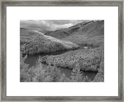 Ross Lake Ir 0503 Framed Print by Bob Neiman