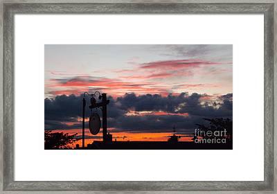 Rossington Sunset Framed Print